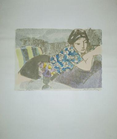 Литография Salvadori - La camicetta blu