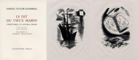 Иллюстрированная Книга Masson - LA CHANSON DU VIEUX MARIN.24 lithographies originales.