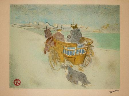 Литография Toulouse-Lautrec - La charette anglaise