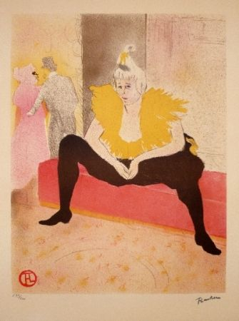 Литография Toulouse-Lautrec - La clownesse assise