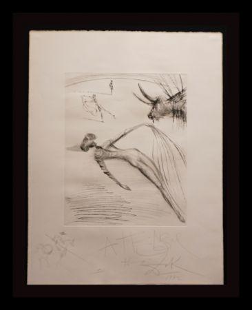 Гравюра Dali - La Cogida y la Muerte with Original Drawing