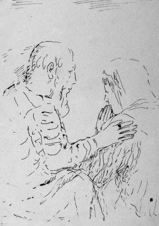 Литография Bonnard - La confessione