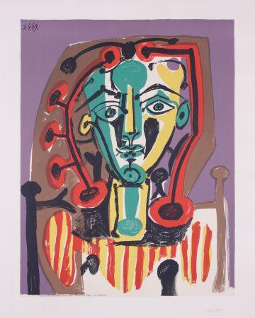 Литография Picasso - La corsage Raye