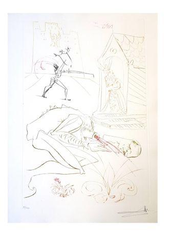 Литография Dali - La Dame de Malehaut