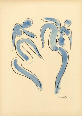 Трафарет Matisse - LA DANSE (1931) de l'album : Douze Contemporains par J. Lassaigne (1959)