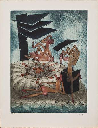 Гравюра Matta - La danse de la morte