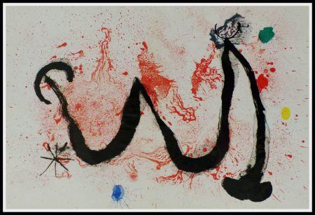 Литография Miró (After) - LA DANSE DU FEU