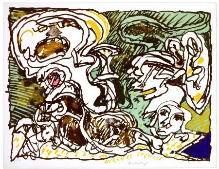 Литография Alechinsky - La dernière coquille