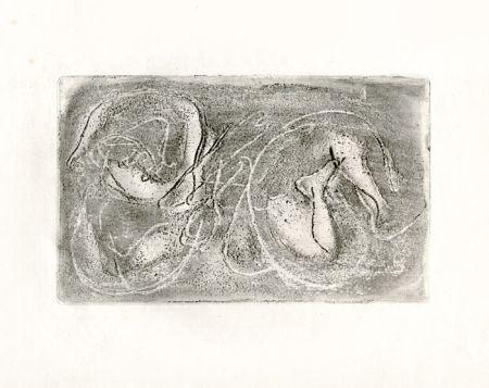 Офорт Fautrier - La femme morte (Fautrier l'enragé)
