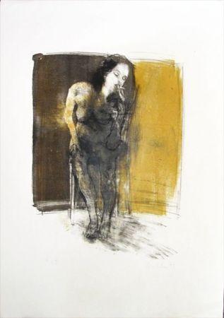 Литография Hohler - La Fumeuse