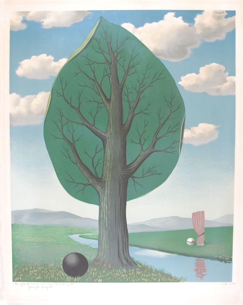 Литография Magritte - La Géante