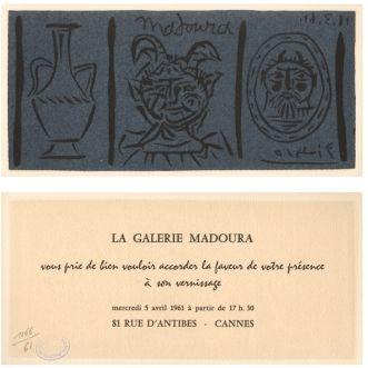 Линогравюра Picasso - La Galerie Madoura