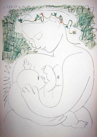 Литография Picasso -  La Grande Maternité