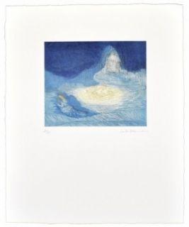 Акватинта Ikemura  - La huida de los montes azules