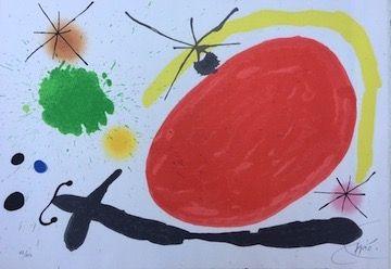 Литография Miró - La Japonaise