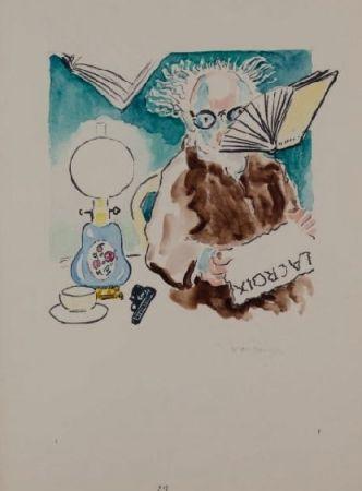 Литография Van Dongen - La Lecture du journal