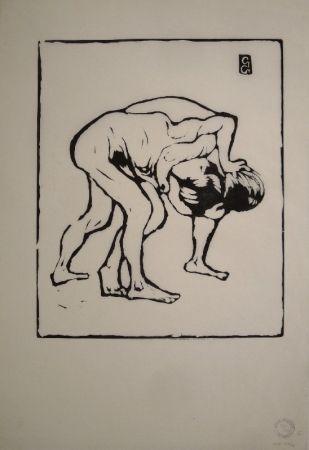Гравюра На Дереве Giacometti - La Lotta I. – Ringende Knaben. – Diego und Alberto