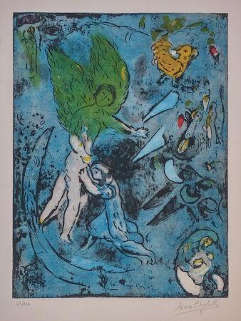 Литография Chagall - La Lutte De Jacob Et De L'ange