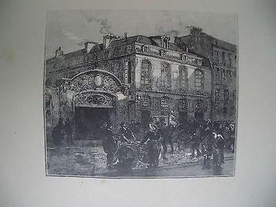 Гравюра На Дереве Lepere - La maison où mourut Béranger