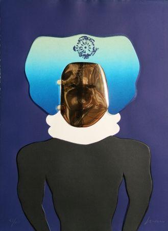 Intaglio Cuevas - La Mascara from the Homage to Quevedo Portfolio
