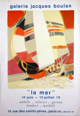 Литография Ambille - La Mer  Galerie Jacques Boulan