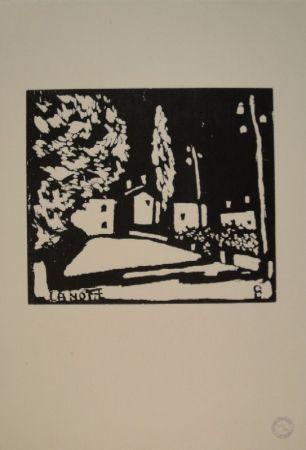 Гравюра На Дереве Giacometti - La Notte I
