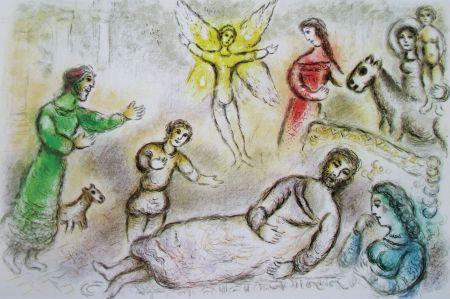Литография Chagall - La Paix Retrouvee - L'odyssee Ii