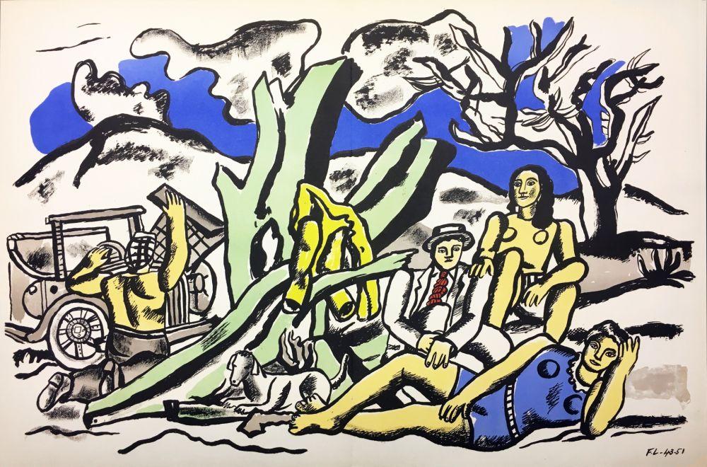Литография Leger - LA PARTIE DE CAMPAGNE (1951-1953)
