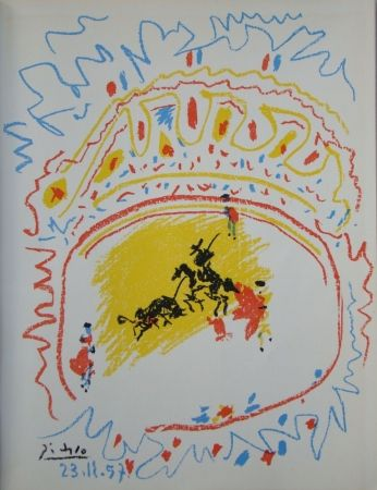 Литография Picasso - La petite Corrida