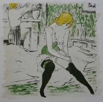 Иллюстрированная Книга Bonfils - La petite Jeanne pâle