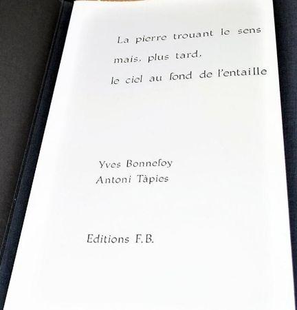 Иллюстрированная Книга Tapies - La Pierre Trouant Le Sens Mais, Plus Tard, Le Ciel Au Fond De L'entaille.