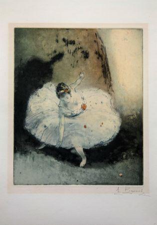 Офорт И Аквитанта Brouet - La pirouette