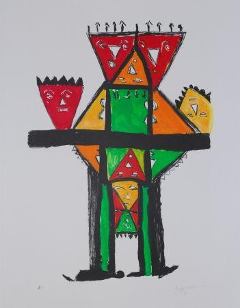 Литография Ionesco - La postérité royale