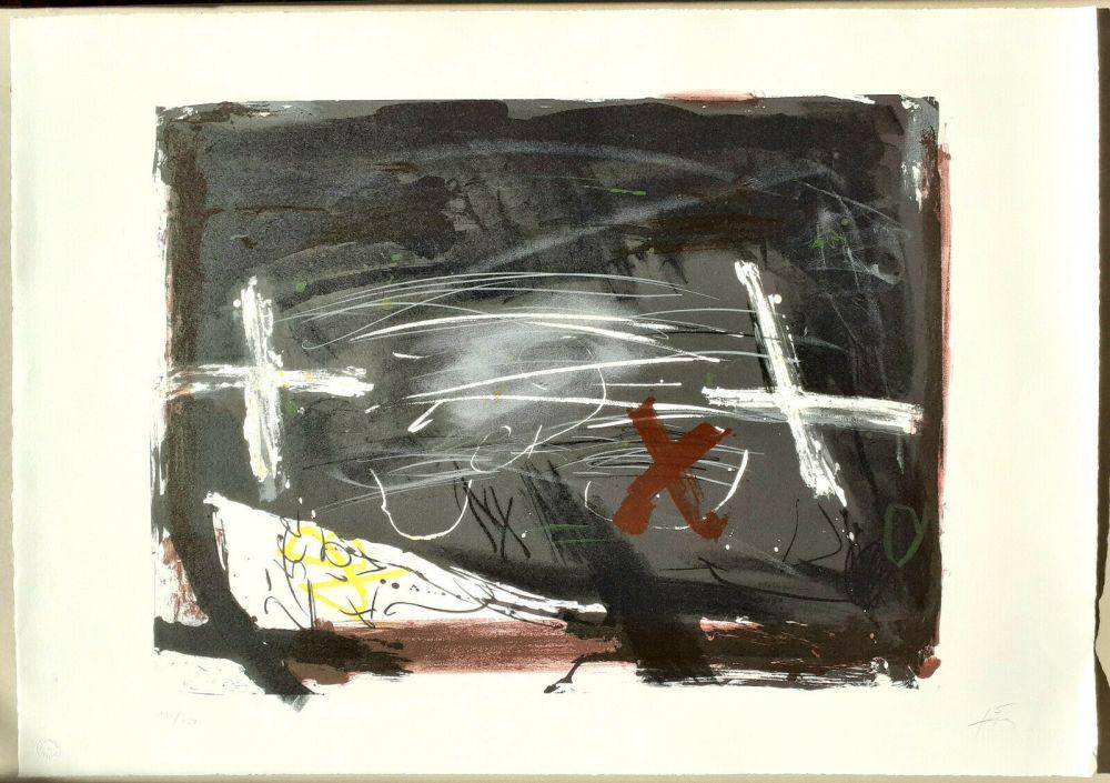 Литография Tàpies - La practica de l'art