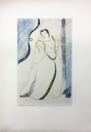 Офорт Laurencin - LA PRINCESSE DE CLÈVES (Pl. III signée au crayon). 1947