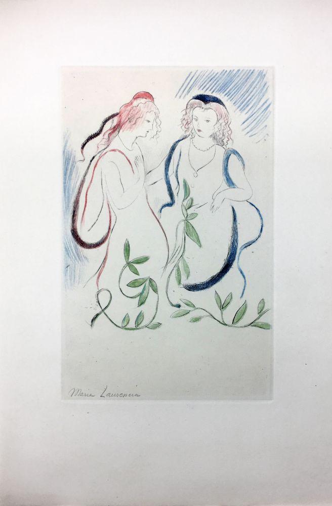 Офорт Laurencin - LA PRINCESSE DE CLÈVES (Pl. VI signée au crayon). 1947