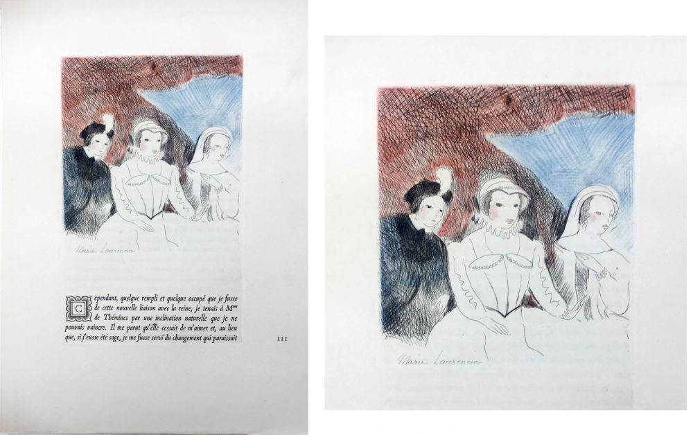 Офорт Laurencin - LA PRINCESSE DE CLÈVES (Pl. VII signée au crayon). 1947