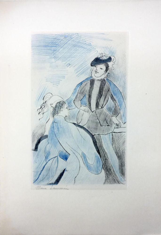 Офорт Laurencin - LA PRINCESSE DE CLÈVES (Pl. VIII signée au crayon). 1947