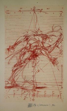 Иллюстрированная Книга Velickovic - La prison chiffree du temps - 18 gravures signées