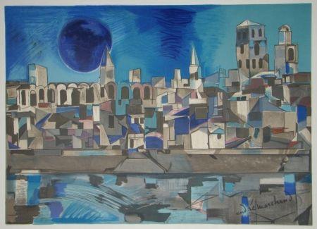 Литография Marchand - La Provence