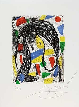 Гравюра Miró - La Révolte Des Caractères