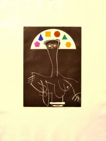 Офорт Valdés - La reina Mariana como pretexto (Matisse)