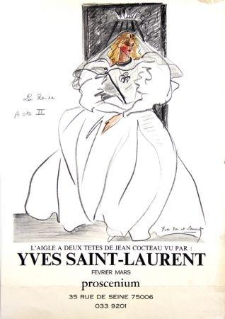 Гашение Saint Laurent - La Reine L'aigle à deux Têtes de Jean Cocteau