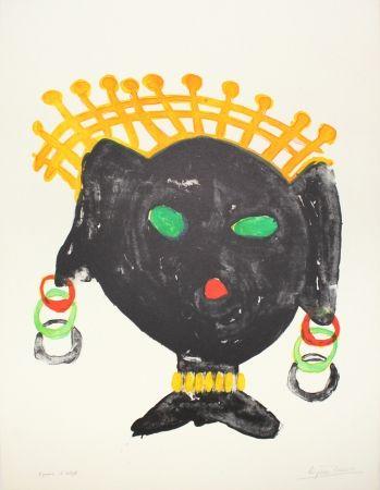 Литография Ionesco - La reine noire