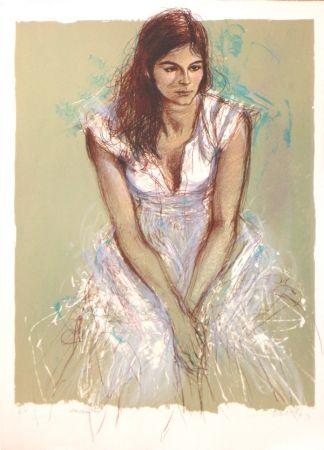 Литография Pecnard - La robe blanche
