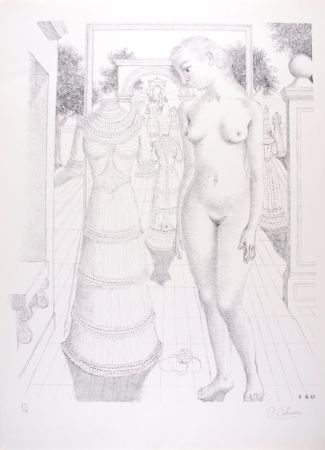 Литография Delvaux - La Robe du dimanche