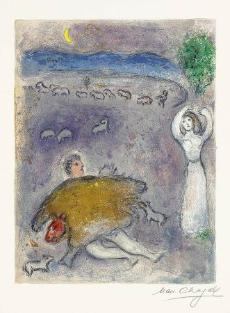 Литография Chagall - La Ruse de Dorcon (Dorcon's Strategy)