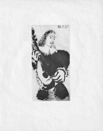 Акватинта Picasso - La Serenade