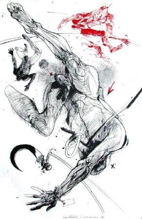 Литография Velickovic - La serpe