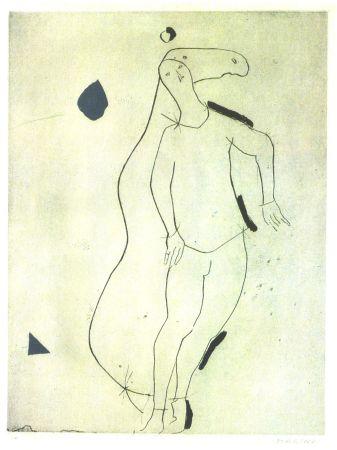 Офорт И Аквитанта Marini - La Sorpresa I, from Personaggi, Plate III